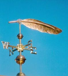 Eagle Feather Weather Vane by West Coast Weather Vanes.  The Feather weather vane represents an Eagle Feather.