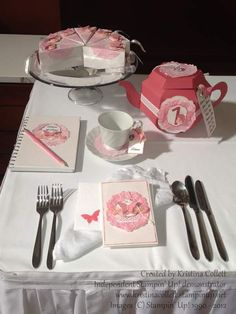"""""""Butterfly love"""" A high tea inspired setting includes invitation with matching stamped envelope, guest book, place card, centrepiece/table number and cake boxes. All feature doily, ribbon roses, butterflies and pearl details.  Available from Paper Pineapple in a range of colours www.facebook.com/Paperpineapple"""