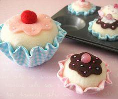 felt cupcake - Diy decoração