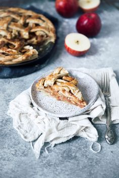 Salted Maple Caramel Apple Pie - tarta de manzana con caramelo salado