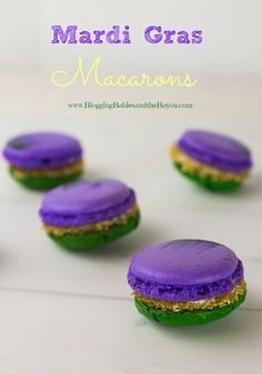 New Orleans Carnival Flavor with Mardi Gras Macarons #BayouTravel
