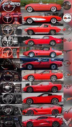 Old Corvette, Chevrolet Corvette Stingray, Chevy Camaro, Retro Cars, Vintage Cars, Little Red Corvette, Exotic Sports Cars, Car Colors, Unique Cars