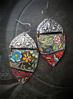 Boucles doreilles Kuchi Banjara bijoux de fleurs fleurs