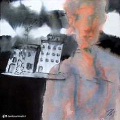 """Danilo Santinelli """"Untitled"""" acrylic and ink on paper 40x40cm"""
