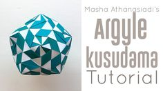 Origami Argyle Kusudama Tutorial: Difficulty:      (Medium Intermediate)  Design: Masha Athanasiadi Thank you Masha Athanasiadi for granting me permission to demonstrate your design!  You can find more stunning Origami designs on Mashas Flickr page: http://ift.tt/2efe2Pv.   Article to this design: http://ift.tt/2er7nwN  Argyle Kusudama Quick Stats: 30 Modules; Ratio: Square; Kami or Duo Colored Paper; No Glue.  Measurements: Used: 10 cm / 4 in This model can also be folded from smaller size…