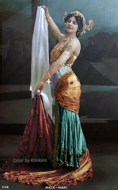 """100 years ago   Mata Hari, the archetype of the seductive female spy, was executed for espionage by a French firing squad at Vincennes outside of Paris. (aged 41): Mata Hari. Meaning """"eye of the day"""" in Malay.  In reality, Mata Hari was born in a small town in northern Holland in 1876, and her real name was Margaretha Geertruida Zelle."""