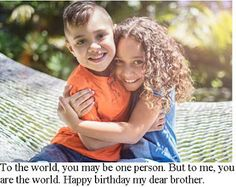Brother and Sister Quotes: Happy birthday to my brother