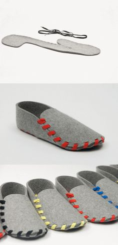 How to Make Fabric Slippers with Free Pattern www. Felt Shoes, Baby Shoes, Shoe Pattern, Creation Couture, Leather Working, Diy Clothes, Sewing Crafts, Sewing Patterns, How To Make