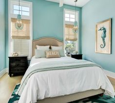 Best Turquoise Room Ideas for Inspiration Modern Interior Design and Decor. Best Turquoise Room Ideas for Inspiration Modern Interior Design and Decor. Ocean Bedroom, Coastal Master Bedroom, Coastal Bedrooms, Coastal Living Rooms, Living Room Decor, Bedroom Modern, Blue Bedroom, Decor Room, Room Decorations