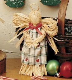 Easy Raffia Angel Craft | Christmas Crafts | Quick and Easy Crafts — Country Woman Magazine