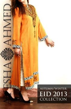 Ayesha Ahmed Autumn Winter Collection 2013 For Young Girls