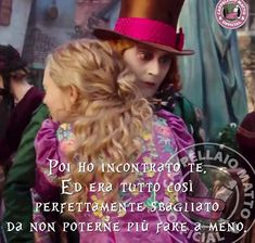 Non importa se e' sbagliato se siamo felici Lewis Carroll, Natalie Portman, Johnny Depp, Disney Love, Beautiful Words, Love Of My Life, Alice In Wonderland, Me Quotes, Writing
