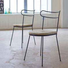 Chaise en métal et bois de pin lina Tikamoon | La Redoute