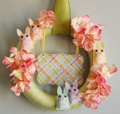 Bugs and Fishes by Lupin: Guest Post: Spring Bunny Wreath Tutorial