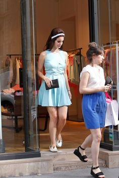 Lana Del Rey went lunch at Restaurant L'Avenue and shopping after at Sandro's Fashion Shop with her sister in Paris. 7-2-2012