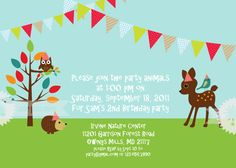 Woodland Friends Invitation