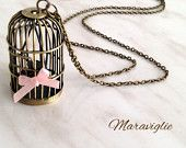 Birdhouse Pendant Necklace Swallow Bird Necklace di Maraviglie
