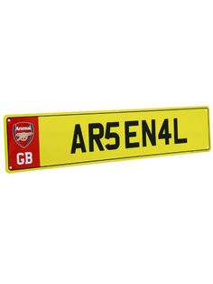 Arsenal FC Number Plate Sign.