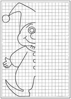 Coloring for kids. Complete Drawing the vase and pot halves / How to Draw. Painting and Drawing for Kids / Luntiks. Children's Arts and Crafts Activities. Drawing and Poems Symmetry Worksheets, Symmetry Activities, Drawing Activities, Drawing Games, Drawing For Kids, Art For Kids, Perspective Drawing Lessons, Graph Paper Art, Drawing Exercises