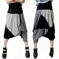 BB 27 Street dance wear pants Casual Fashion Big drop crotch pants hip hop pants women on http://ali.pub/x71jt