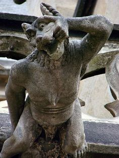 Where does it hurt?--------------- Gargoyle cathedral Notre-Dame ,Moulins.France...ra