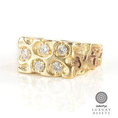 14ct #gold #diamond chunky #ring