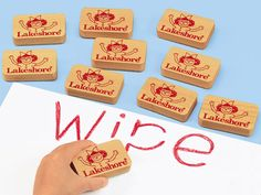 Write & Wipe Lapboard Erasers