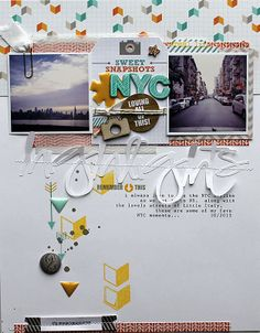 #papercraft #travel #scrapbook #layout    Highlights by MelBlackburn at @Studio_Calico
