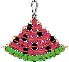 P-MELON Summer is a fun time to enjoy crafting with beads. The FreeKidsCrafts Team created this Watermelon Bead Pattern to hang on your backpack or key chain. Join in the fun. Pony Bead Projects, Pony Bead Crafts, Beaded Crafts, Jewelry Crafts, Crafts With Pony Beads, Jewelry Ideas, Pony Bead Patterns, Beading Patterns Free, Beading Tutorials
