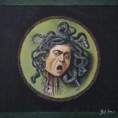 Medusa-olio su tela- 40x40