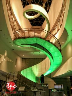 Over 20 LED Fixtures Used to Uplight the Spiral Staircase at the Dali Museum