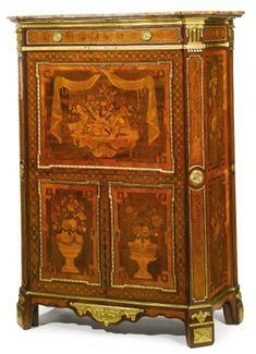 A Louis XVI ormolu-mounted kingwood, amaranth, sycamore, fruitwood marquetry and… European Furniture, Victorian Furniture, Furniture Ads, French Furniture, Classic Furniture, Fine Furniture, Furniture Projects, Antique Furniture, Furniture Design