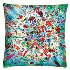 Calypso Turquoise Throw Pillow  Set of Two by Designers Guild