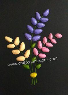 "Képtalálat a következőre: ""pistachio shell crafts"" Stone Crafts, Rock Crafts, Diy Home Crafts, Diy Arts And Crafts, Creative Crafts, Crafts For Kids, Art N Craft, Craft Work, Pista Shell Crafts"