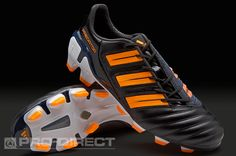adidas Football Boots - adidas adipower Predator TRX FG - Firm Ground - Soccer Cleats - Black-Warning-Running White Metallic