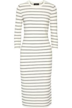 Ivory and black stretch-knit Slips on 90% viscose, 10% polyester Dry clean Imported