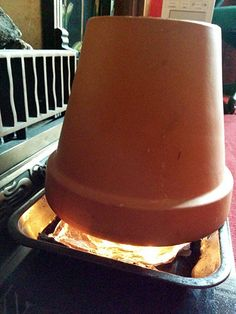 Here's our plant pot heater