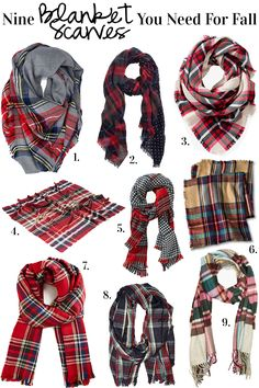 Nine Blanket Scarves You Need For Fall - Cort In Session. Staying warm during Fall