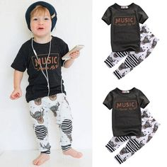 5ea916f24313 Short Sleeve T-Shirt Tops and Pant Clothing Set Kids Outfits Girls