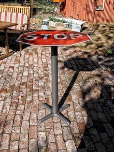 STOP Sign Bar Top Table.