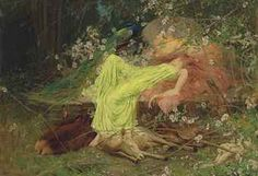 "Arthur Wardle (1864-1949) A Fairy Tale ""All seemed to sleep, the timid hare on form"" - Scott. Oil on canvas."