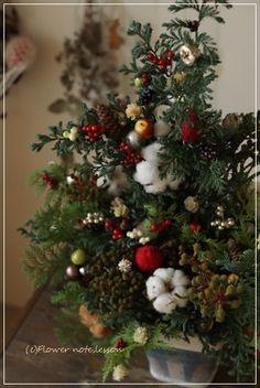 【募集します】オレゴンモミのクリスマス Flower note の 花日記 (横浜・上大岡 アレンジメント教室)
