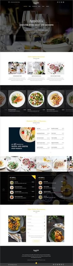 Appetit is an elegant and modern design #PSD template for #restaurants and cafes #websites with visually appealing and aesthetic design download now➩ https://themeforest.net/item/apptit_restaurants_psd_template/19056734?ref=Datasata