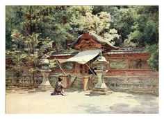 008- Templo, valla y puerta en Higashi Otami de Kyoto-Japanese gardens 1912-Walter Tyndale - Cesar Ojeda Japan Landscape, Kyoto, Art Asiatique, Madame Butterfly, Old Photography, Asian Art, New Pictures, Vintage Photos, Art Reference