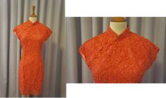 Orange lace with pink lining