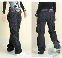 Pantalones con muchos bolsillos