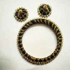 Black and Gold Jewellery set
