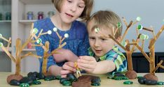 Make 4 SEASONS TREES for small world play! Perfect for at home or in the classroom! Popsicle Stick Houses, Small World Play, Crafty Kids, Seasons, Trees, Classroom, Class Room, Seasons Of The Year, Tree Structure
