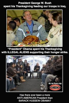 Bush vs. Obama....although he was not perfect, I would take Bush any day!