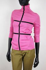 Emanuel UNGARO * BNWT CASHMERE and Silk hot pink turtleneck ! sz.S